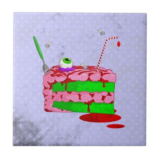 Pedazo de torta tejas  ceramicas