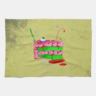 Pedazo de torta toalla