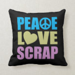 Pedazo del amor de la paz cojines