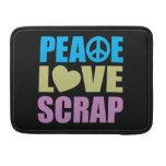 Pedazo del amor de la paz fundas macbook pro