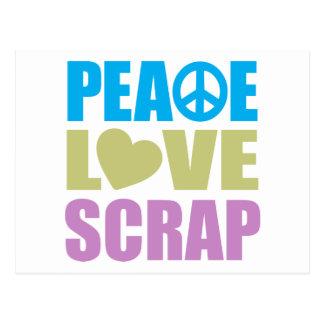 Pedazo del amor de la paz postal