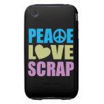 Pedazo del amor de la paz tough iPhone 3 fundas