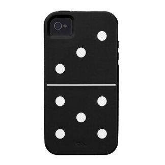 Pedazo del juego de los dominós vibe iPhone 4 carcasa