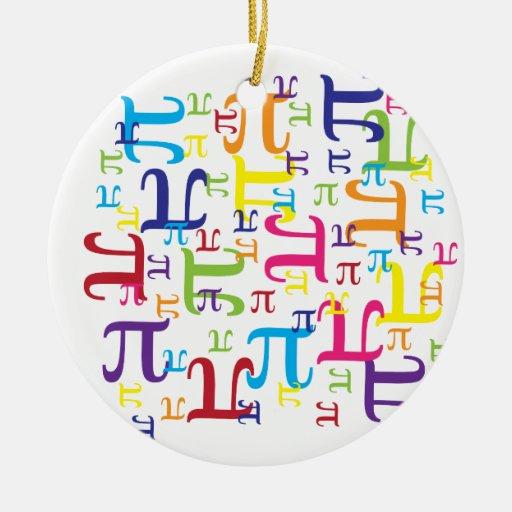 Pedazo del pi adorno navideño redondo de cerámica