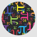 Pedazo del pi etiquetas redondas
