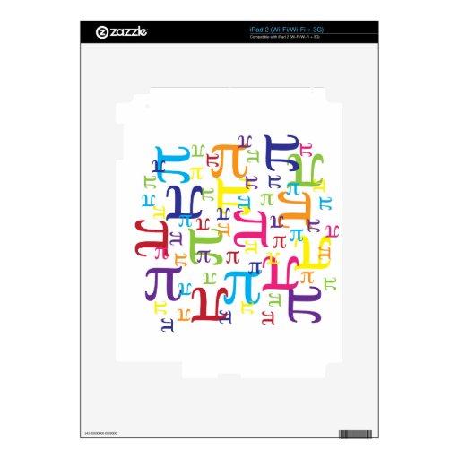 Pedazo del pi iPad 2 calcomanía