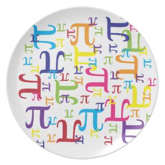 Pedazo del pi platos para fiestas