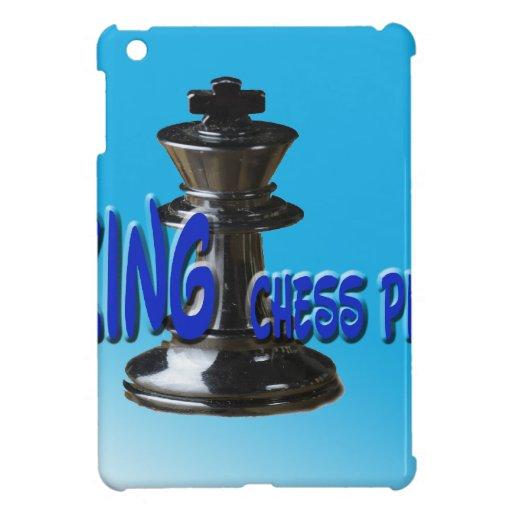 Pedazo del rey ajedrez con el fondo