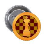 Pedazo del rey ajedrez del oro pins