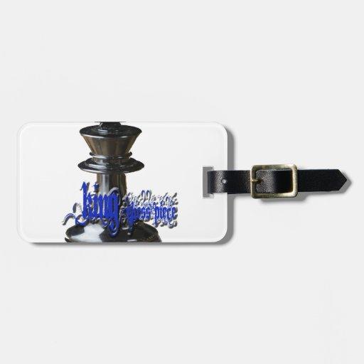 Pedazo del rey ajedrez etiqueta para maleta