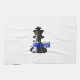 Pedazo del rey ajedrez toallas de cocina
