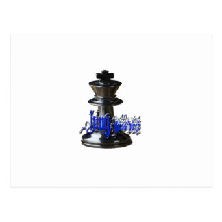 Pedazo del rey ajedrez tarjeta postal
