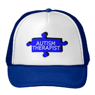 Pedazo del rompecabezas del autismo del terapeuta  gorros