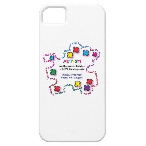Pedazo del rompecabezas del autismo iPhone 5 fundas