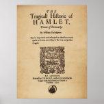 Pedazo delantero al cuarto de Hamlet (versión 1605 Posters