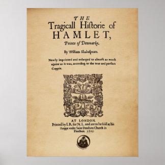 Pedazo delantero al cuarto de Hamlet versión 1605 Posters