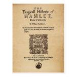 Pedazo delantero al cuarto de Hamlet (versión 1605 Tarjeta Postal