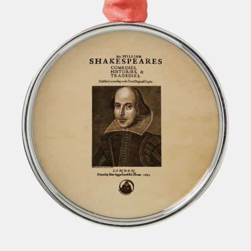Pedazo delantero al primer folio de Shakespeare Adorno De Reyes