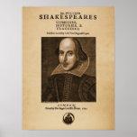 Pedazo delantero al primer folio de Shakespeare Posters
