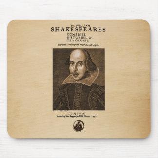 Pedazo delantero al primer folio de Shakespeare Tapetes De Ratones