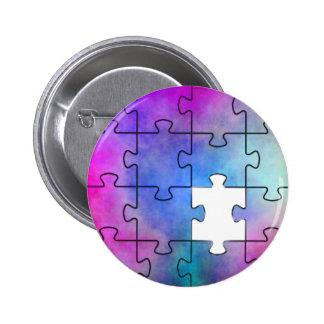 Pedazo que falta del autismo - Pin Pin Redondo 5 Cm