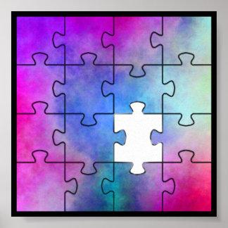 Pedazo que falta del autismo póster
