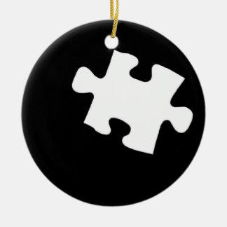 Pedazo que falta del rompecabezas adornos de navidad