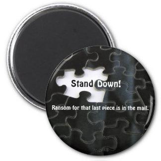 Pedazo que falta del rompecabezas imán redondo 5 cm