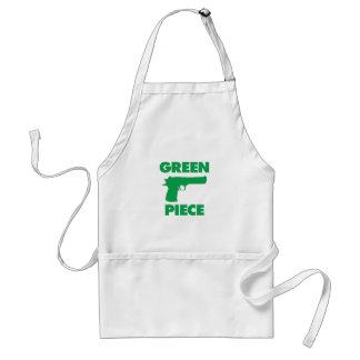 Pedazo verde delantales