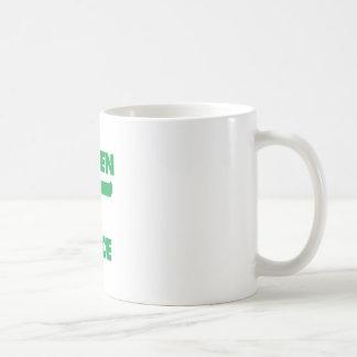 Pedazo verde taza clásica
