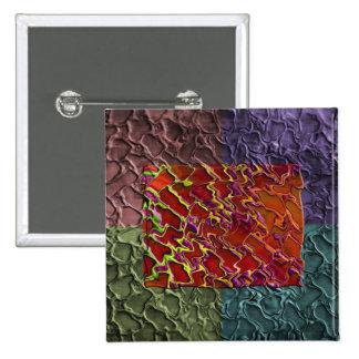 Pedazos abstractos del rectángulo en 5 colores pin cuadrado