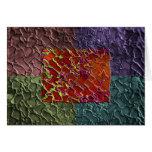 Pedazos abstractos del rectángulo en 5 colores tarjetón