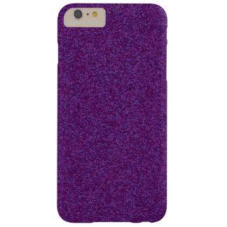 Pedazos brillantes de color morado oscuro funda de iPhone 6 plus barely there