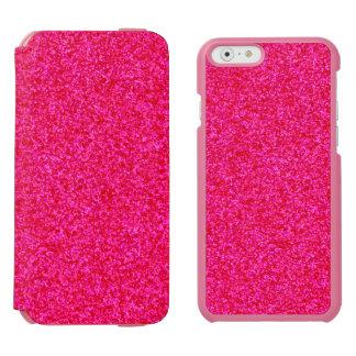Pedazos brillantes de color rosa oscuro funda billetera para iPhone 6 watson