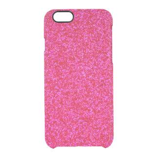 Pedazos brillantes de color rosa oscuro funda clearly™ deflector para iPhone 6 de uncommon