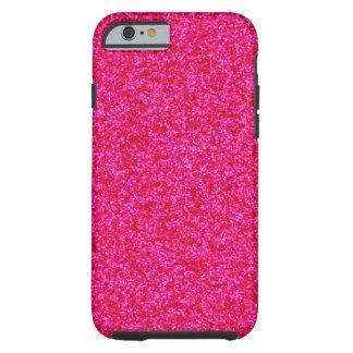 Pedazos brillantes de color rosa oscuro funda de iPhone 6 tough