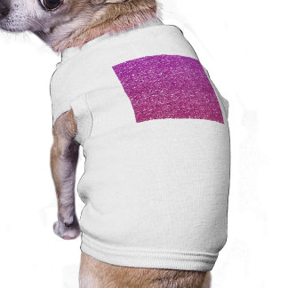 Pedazos brillantes de las púrpuras de la pendiente playera sin mangas para perro