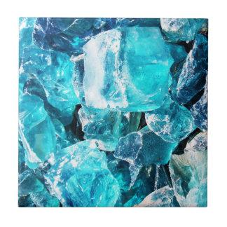 Pedazos cristalinos azules azulejos cerámicos