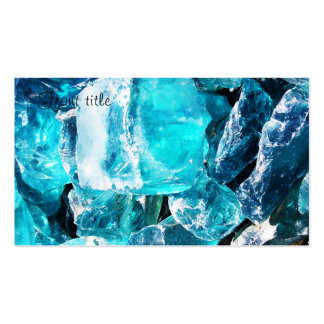 Pedazos cristalinos azules tarjetas de visita