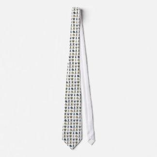 Pedazos de ajedrez en filas corbatas personalizadas