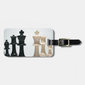 Pedazos de ajedrez etiquetas bolsa
