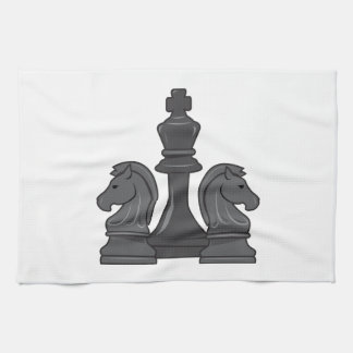 Pedazos de ajedrez toalla de cocina