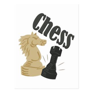 Pedazos de ajedrez postales