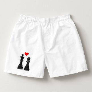 Pedazos de ajedrez: Rey y reina Calzoncillos