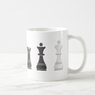 Pedazos de ajedrez tazas