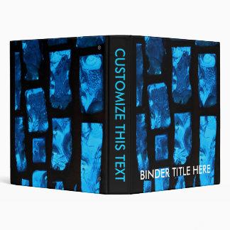"""Pedazos de cristal azules con lechada negra entre carpeta 1"""""""