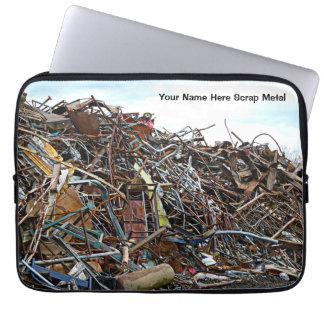 Pedazos de la chatarra de desperdicios funda portátil