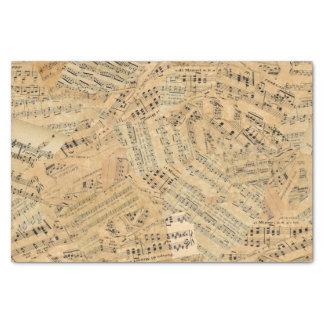 Pedazos de la música POMV del vintage Papel De Seda Pequeño