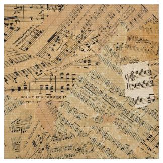 Pedazos de la música POMV del vintage Telas