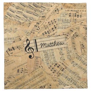 Pedazos de música POMVa del vintage Servilletas De Papel